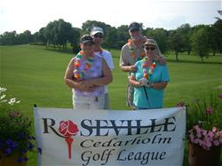 Co-Ed golf league - two couples