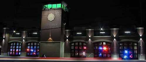1-Fire Station night