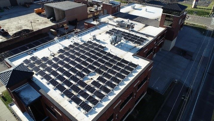 Solar Installation on City Hall Campus
